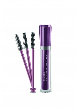 3 Looks Black Nano Mascara 6ml